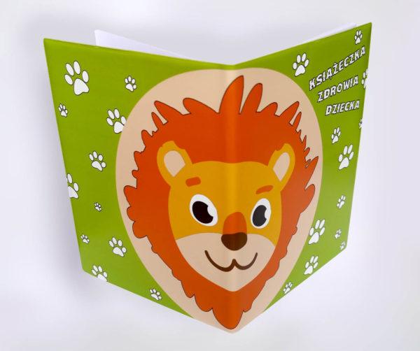 Okładka książeczki zdrowia dziecka - lew r