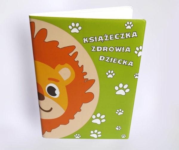 Okładka książeczki zdrowia dziecka - lew