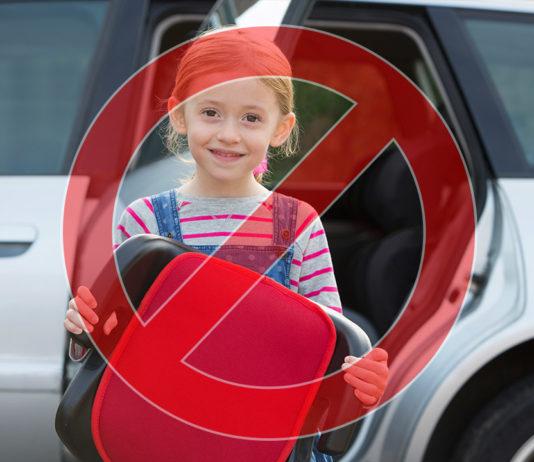 Podkładki do przewożenia dzieci są niebezpieczne