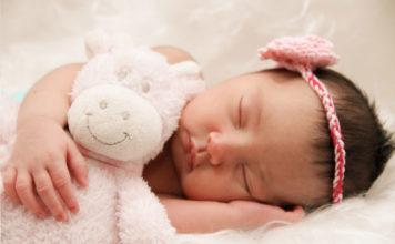 Śpiący niemowlak - anemia