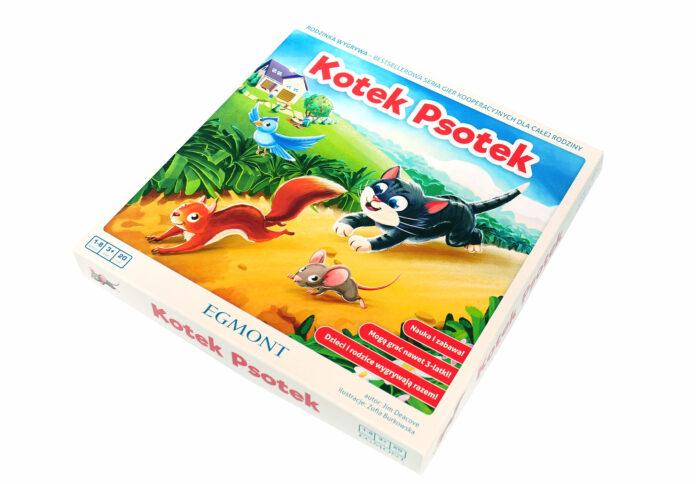 Kotek Psotek - gra planszowa dla dzieci